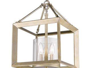Smyth Mini Chandelier  Gunmetal Bronze   Clear Glass  Retail 275 00