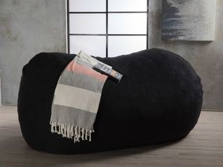 Asher Traditional 6 5  Suede Bean Bag Chair Cover by Christopher Knight Home