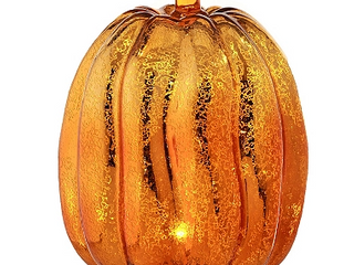 8  Mercury Glass Revolving lED Pumpkin Centerpiece