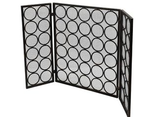 Hartly Modern 3 Panel Fireplace Screen by Christopher Knight Home