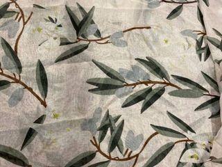 Holli Zollinger Olive Bloom Single Panel Sheer Curtain   50 X 84