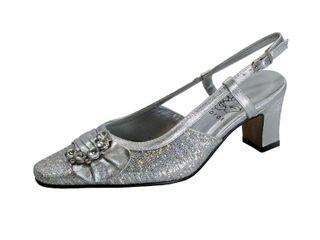 FlORAl Clea Women s Extra Wide Width Dress Slingback Metallic Shoes