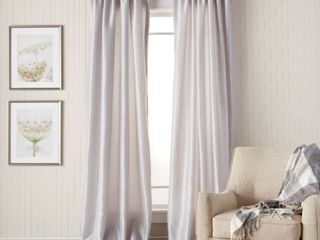 Heritage landing 108 inch Faux Silk lined Curtain Panel Pair   54 x 108