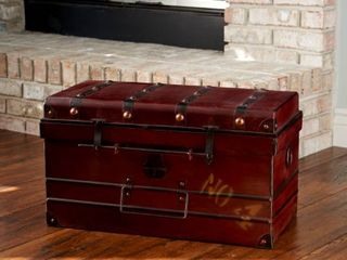 Household Essentials large Steamer Trunk