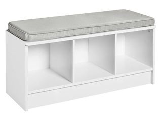 ClosetMaid Cubeicals 3 Cube Indoor Storage Bench with Cushion