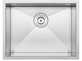22 1 2  Ticor S3660 Pacific Series 16 Gauge Stainless Steel Undermount Single Basin Zero Radius Kitchen laundry Sink