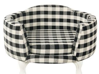 HomePop Pet Bed   Mini Black Plaid Retail 115 49