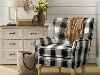 Avenue Greene Fremont Checkered Pattern Accent Chair Retail 245 99