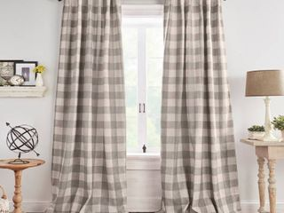 Truly Soft Everyday Buffalo Check Printed Window Curtain Panel Pair   Set of 2