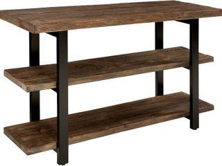 Rustic Natural 3 tier Media Shelf  48 x 30 x 16