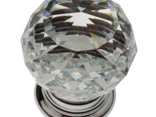 GlideRite 5 Pk1 1 4 in  Round Crystal Cabinet Knob   Polished Chrome   Polished Chrome