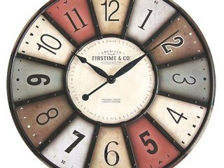 FirsTime   Co  27  Color Motif Farmhouse Wall Clock   American Crafted