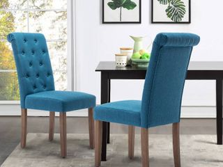 Classic Upholstered Accent Dining Chair  Set of 2