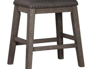 Caitbrook Upholstered Counter Height Bar Stool   Set of 2