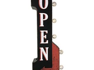 Open Double Sided Off the Wall lED Marquee light Up Arrow Sign for Bar  Garage or Man Cave