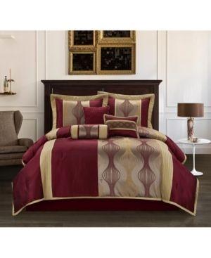 Grand Avenue Daniella 7 piece Modern Geometric Comforter Set Retail 81 48