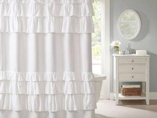 Home Essence Abby Ultra Soft Ruffled Shower Curtain