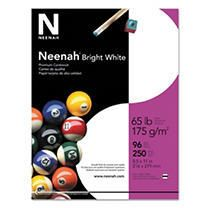 Neenah Paper Bright White Card Stock 65 lbs   White  250 Sheets Per Pack  roughly 4 packs