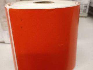 12 Uline 4 x 6 Orange direct thermal label s   86040