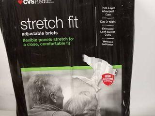 CVS Health stretch fit adjustable briefs 24 unisex medium