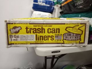 warps trash can liners 55 gallon 3 mil