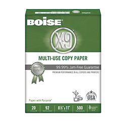 Boise X 9 8 1 2 x 11 Copy Paper  92 Brightness  20lb   White  5000 Sheets Per Carton