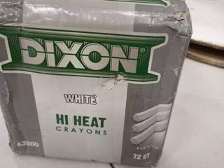 Dixon Ticonderoga 464 63300 White High Heat Metal Marking Crayon
