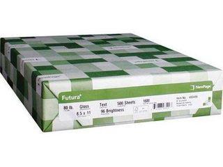 Futura 8 1 2 X 11 inch laser Gloss Paper 80 lb 8 packs