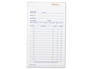 Business Source Carbonless All Purpose Forms Book   Triplicate   50 Sheets  39551