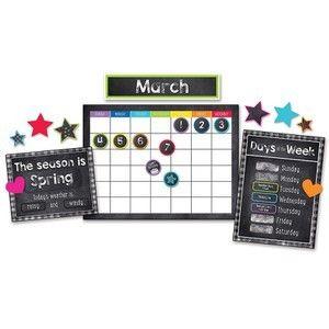 Schoolgirl Style Calendar Bulletin Board Set  Twinkle Twinkle You re A STAR  Preschool   Grade 5