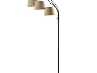 Adesso Antique Bronze 3 Arm Arc Floor lamp Retail 108 99