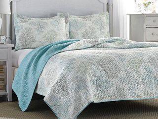 Blue Saltwater Quilt Set  King    laura Ashley