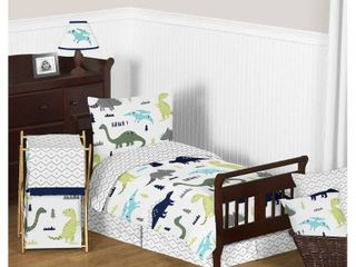 Blue   Green Mod Dinosaur Bedding Set  Toddler    Sweet Jojo Designs