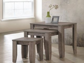 Furniture of America Diana Rustic Taupe 3 piece Nesting Table Set Retail 102 49