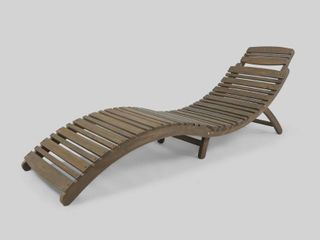 lahaina Outdoor Acacia Wood Chaise lounge by Christopher Knight Home Retail 145 49