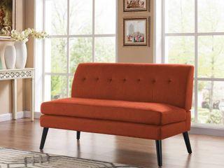 Carson Carrington Tjaereborg Mid century Modern Orange linen Sofa Retail 518 00
