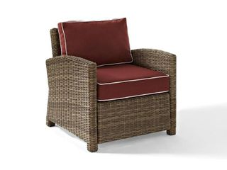 Bradenton Outdoor Wicker Arm Chairs WEATHERED BROWN