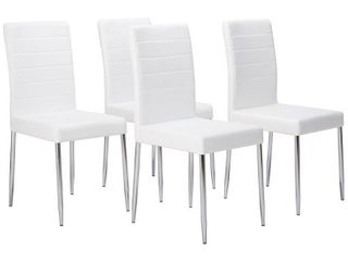 K and B White Metal Dining Chairs  Set of 4  Retail 297 99