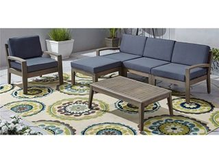 Grenada Outdoor 4 Seater Acacia Wood Sectional Sofa Set by Christopher Knight Home Retail 997 49