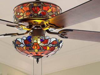 Copper Grove Guasipati 52 inch Tiffany style Magna Carta Ceiling Fan   52 l x 52 W x 16 5 Retail 267 99