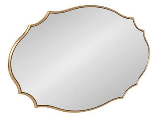 Kate and laurel leanna Scalloped Oval Wall Mirror   Gold   24x36 Retail 201 49