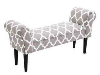 HomCom Small linen Upholstered Ottoman Bench Retail 89 99