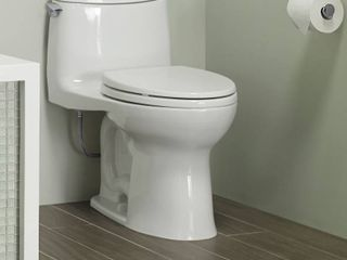 TOTO Ultramax II Het Double Cyclone Elongated One Piece Toilet with Sanagloss  Cotton White  MS604114CEFG 01