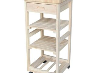 International Concepts Kitchen Trolley  Unfinished