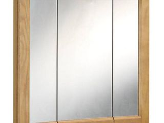 Richland Tri View Medicine Cabinet Mirror with 3 Doors  36 Inches by 30 Inches
