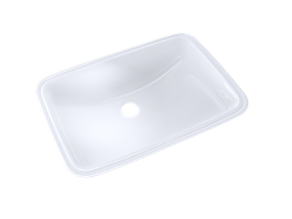 Toto 19 in  Undermount Bathroom Sink with CeFiONtect in Cotton White