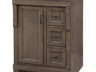 Naples 24 in  W x 21 5 8 in  D Bath Vanity Cabinet Only in Distressed Grey by Home Decorators Collection