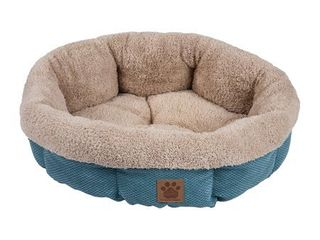 Precision Pet SN MC Round Shearling Bed  Teal  21