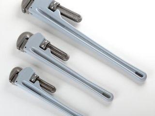 3 Piece Aluminium Pipe Wrench Set Plumbing Plumber Shop