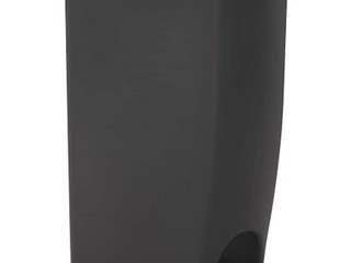 Rubbermaid Step On lid Slim Trash Can For Home  Kitchen  11 25 Gallon  Charcoal